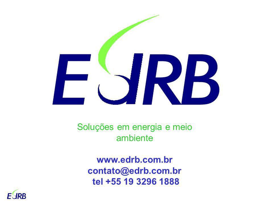 Soluções em energia e meio ambiente www.edrb.com.br contato@edrb.com.br tel +55 19 3296 1888