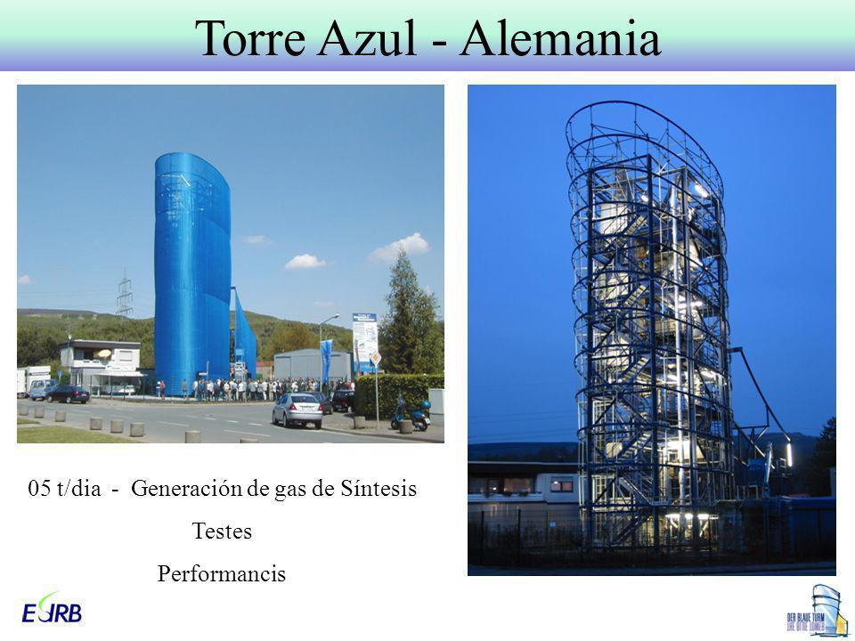 Torre Azul - Alemania 05 t/dia - Generación de gas de Síntesis Testes Performancis