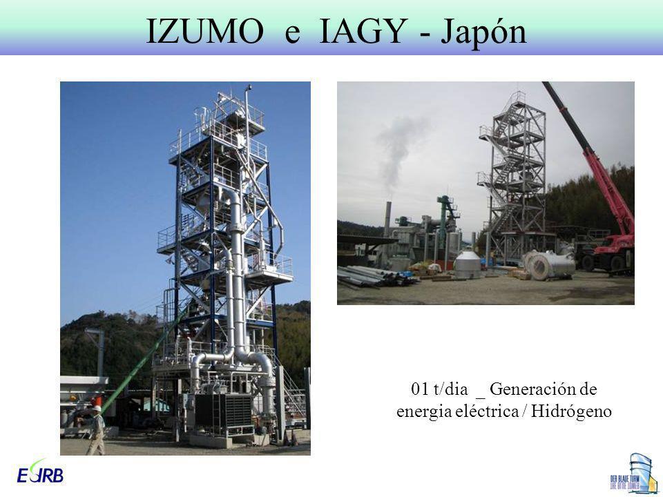 IZUMO e IAGY - Japón 01 t/dia _ Generación de energia eléctrica / Hidrógeno