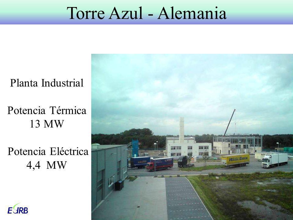 Planta Industrial Potencia Térmica 13 MW Potencia Eléctrica 4,4 MW Torre Azul - Alemania