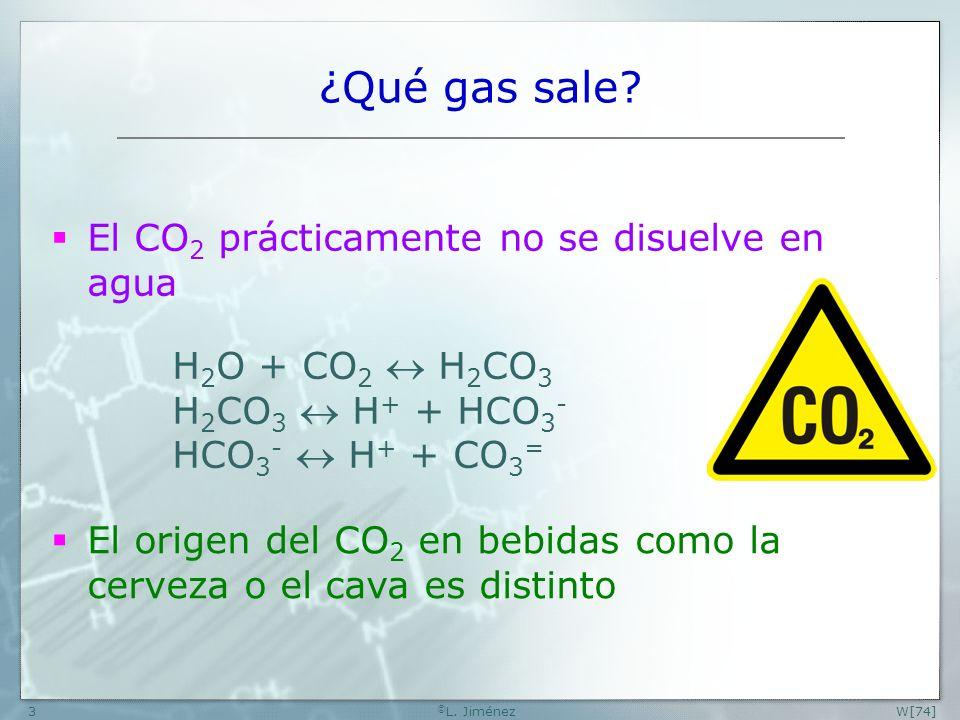 W[74] © L.Jiménez14 ¿Por qué sale gas de golpe cuando agitamos.