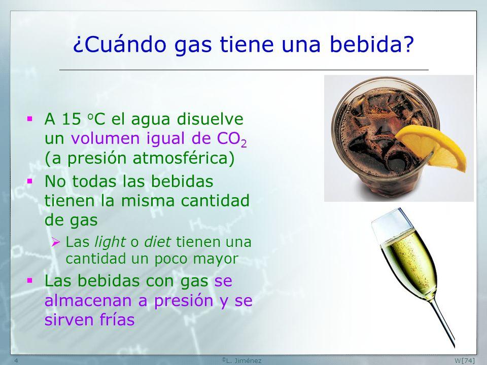 W[74] © L.Jiménez4 ¿Cuándo gas tiene una bebida.