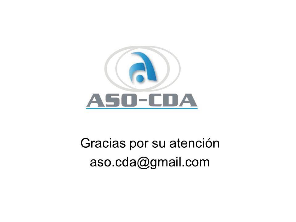 Gracias por su atención aso.cda@gmail.com