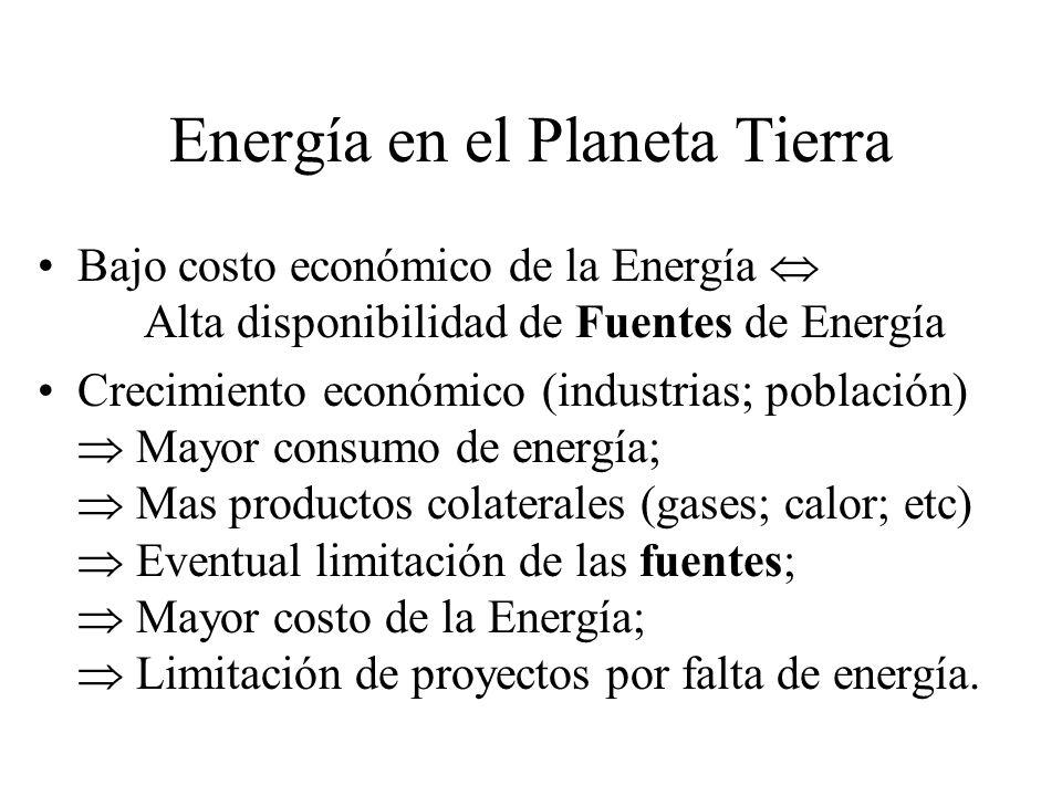 Fuentes de Energía del Planeta El planeta Tierra dispone de una sola fuente de energía: el sol Exceptuando la energía nuclear y la del calor propio del centro de la tierra, tanto las fuentes de energía clásicas como las alternativas provienen de la energía que se recibe del sol (que es, a su ves, una reacción nuclear).