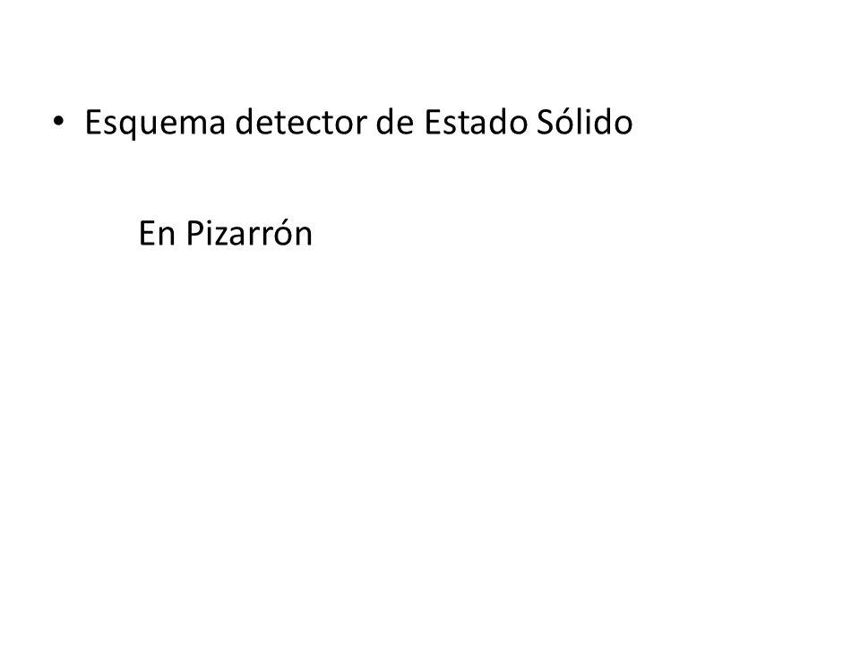 Esquema detector de Estado Sólido En Pizarrón