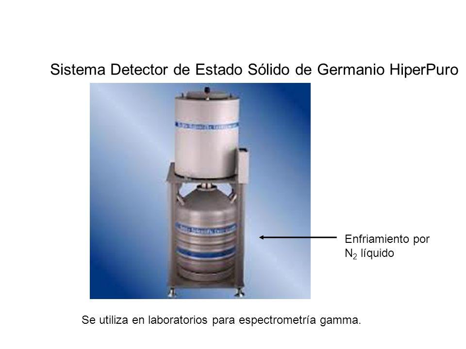 Sistema Detector de Estado Sólido de Germanio HiperPuro Enfriamiento por N 2 líquido Se utiliza en laboratorios para espectrometría gamma.