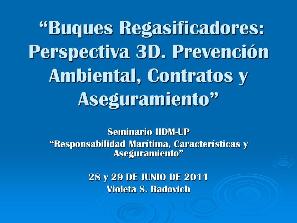 Buques Regasificadores: Perspectiva 3D. Prevención Ambiental, Contratos y Aseguramiento Buques Regasificadores: Perspectiva 3D. Prevención Ambiental,