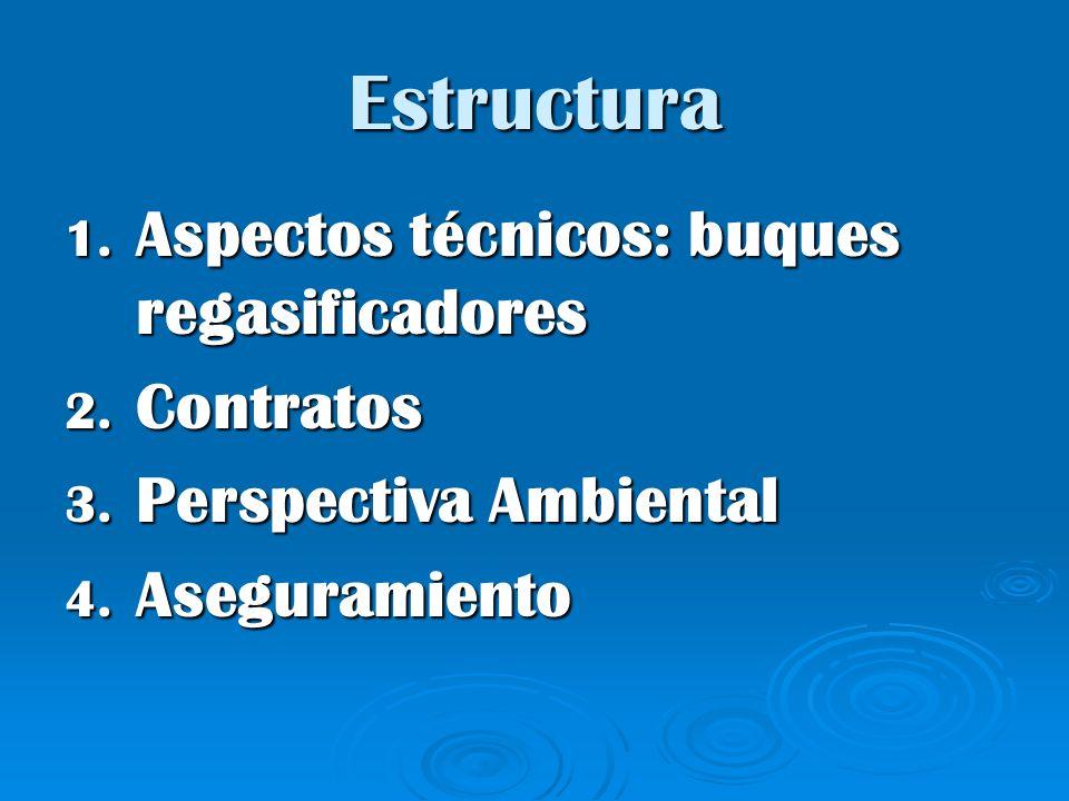 Estructura 1. Aspectos técnicos: buques regasificadores 2. Contratos 3. Perspectiva Ambiental 4. Aseguramiento