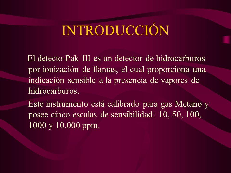 PROCEDIMIENTO OPERATIVO Solicitar el detector de gas al Jefe de Operaciones.