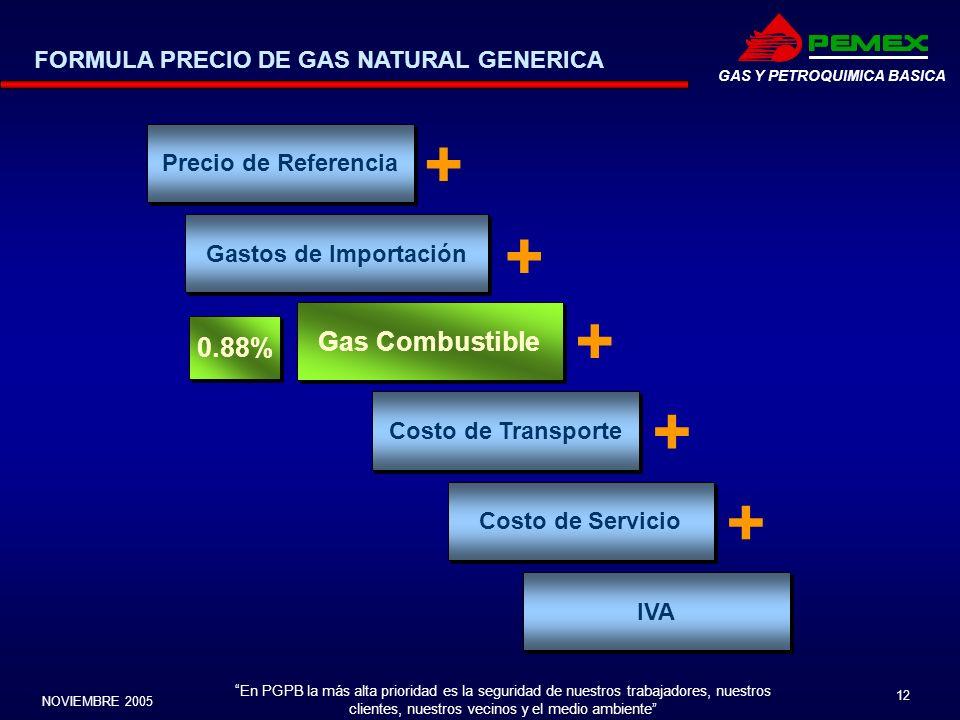 En PGPB la más alta prioridad es la seguridad de nuestros trabajadores, nuestros clientes, nuestros vecinos y el medio ambiente NOVIEMBRE 2005 12 GAS