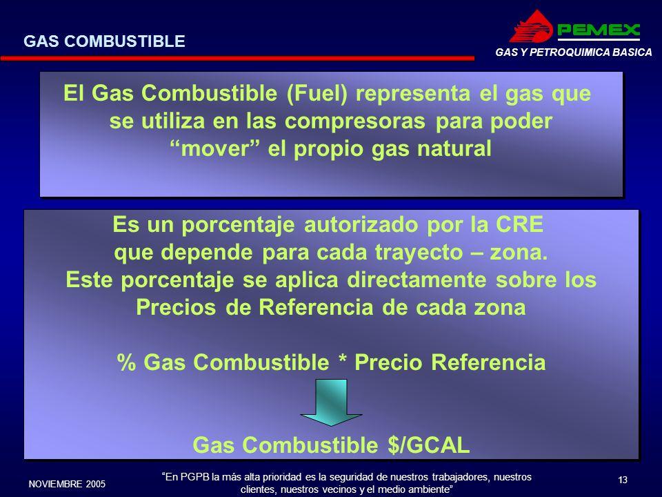 En PGPB la más alta prioridad es la seguridad de nuestros trabajadores, nuestros clientes, nuestros vecinos y el medio ambiente NOVIEMBRE 2005 13 GAS