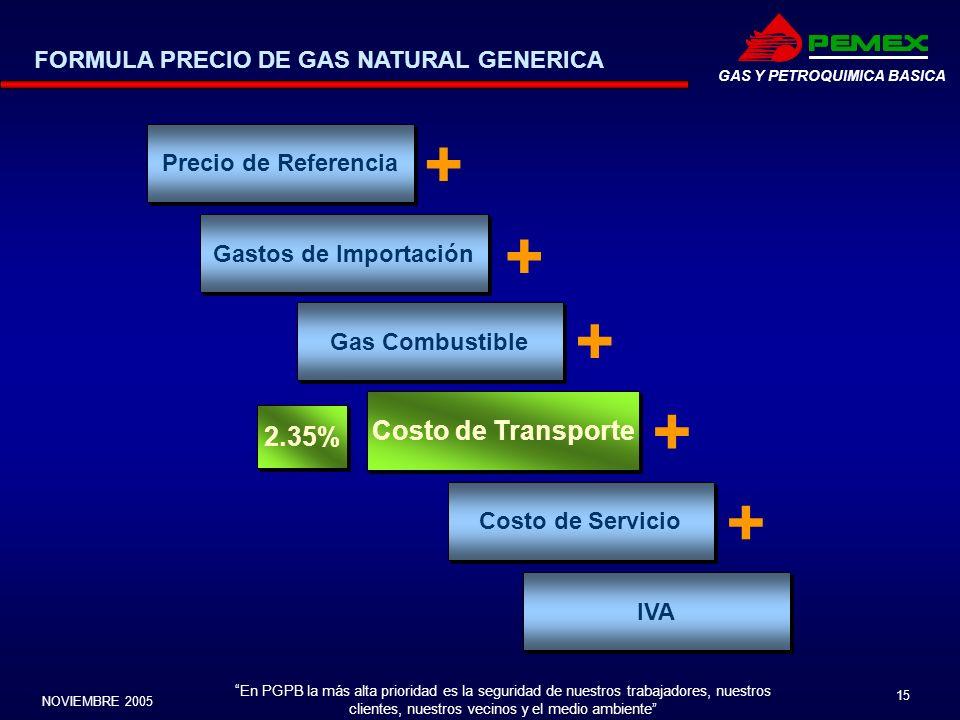 En PGPB la más alta prioridad es la seguridad de nuestros trabajadores, nuestros clientes, nuestros vecinos y el medio ambiente NOVIEMBRE 2005 15 GAS