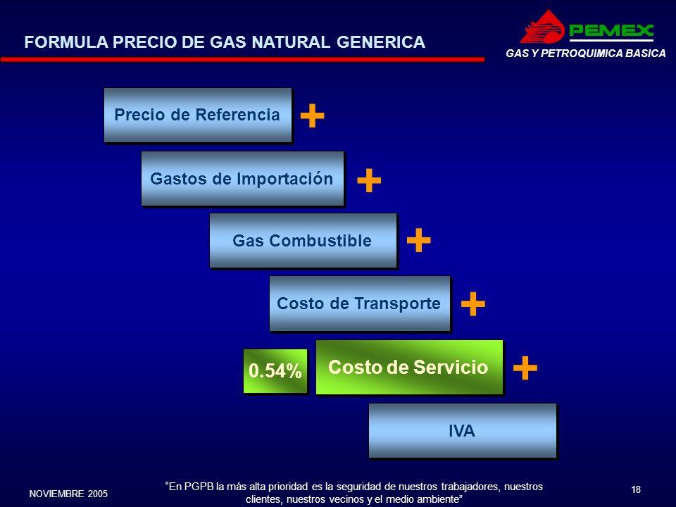 En PGPB la más alta prioridad es la seguridad de nuestros trabajadores, nuestros clientes, nuestros vecinos y el medio ambiente NOVIEMBRE 2005 18 GAS