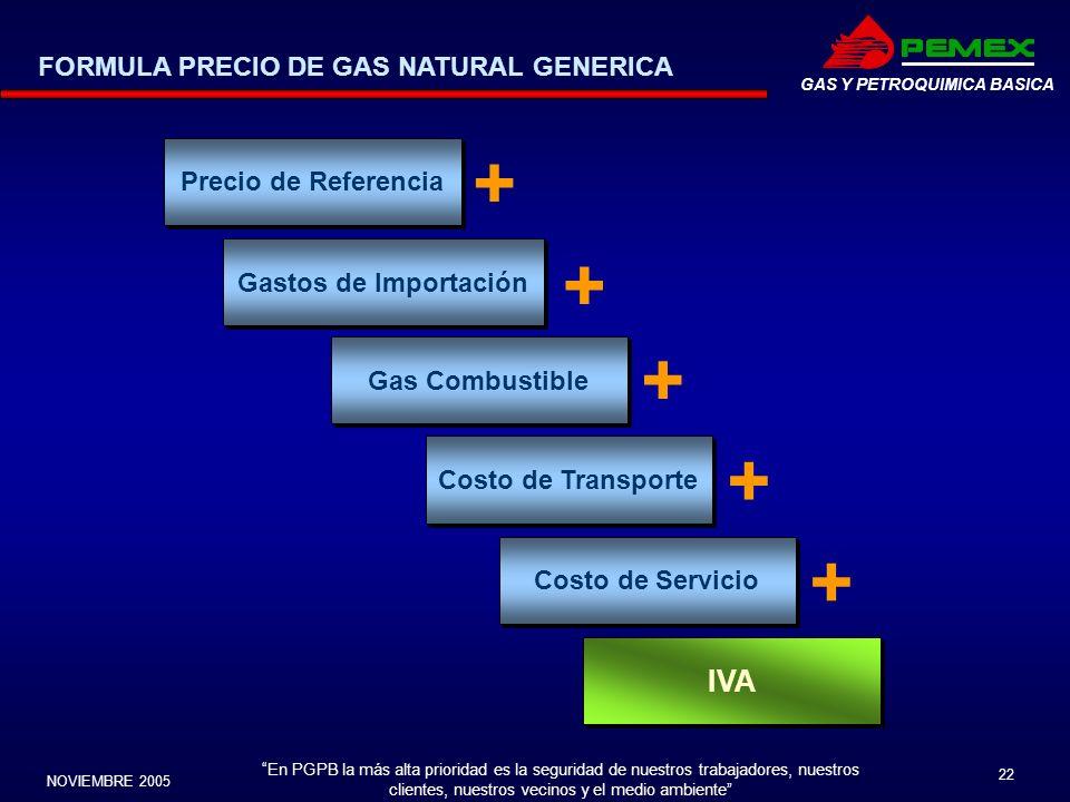En PGPB la más alta prioridad es la seguridad de nuestros trabajadores, nuestros clientes, nuestros vecinos y el medio ambiente NOVIEMBRE 2005 22 GAS