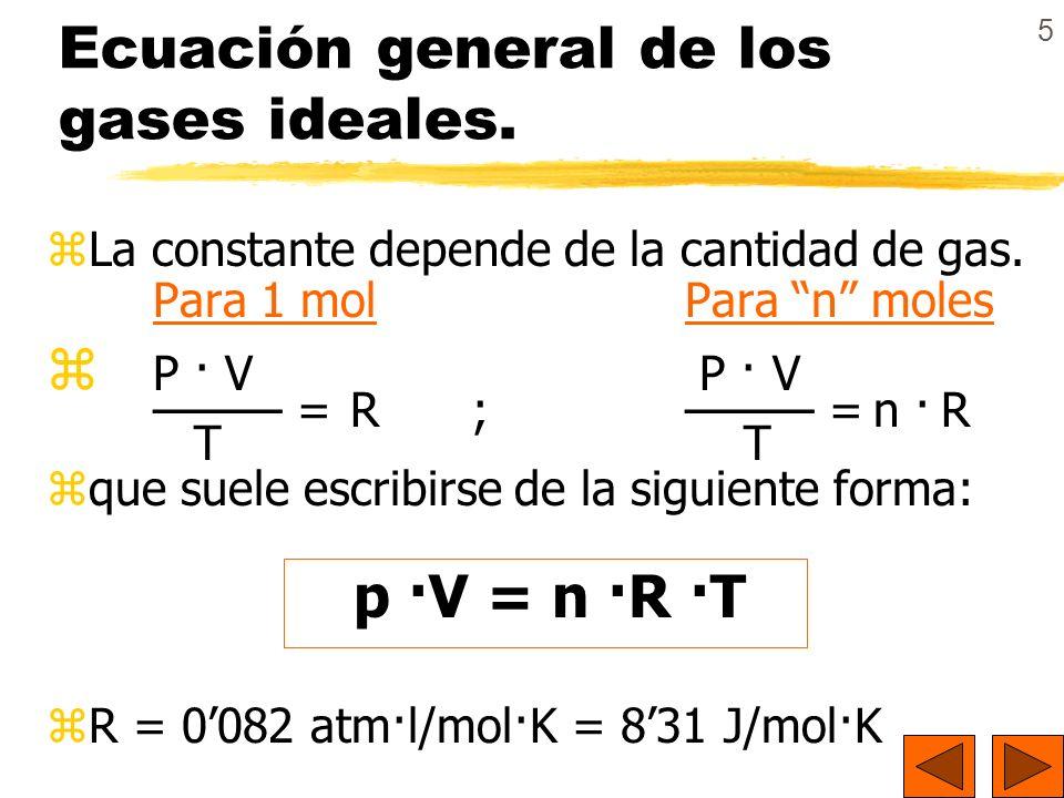 16 Ejemplo: Ejemplo: Una mezcla de 4 g de CH 4 y 6 g de C 2 H 6 ocupa un volumen de 21,75 litros.