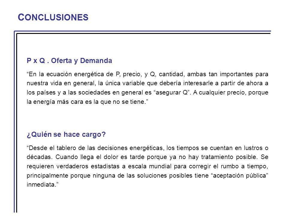 C ONCLUSIONES P x Q.