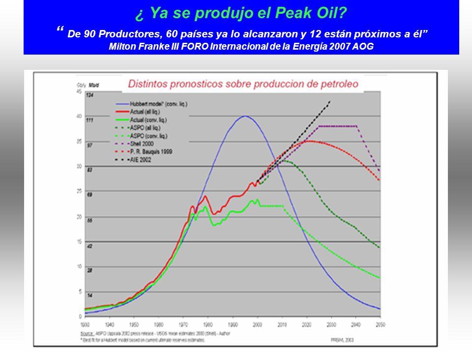 ¿ Ya se produjo el Peak Oil.