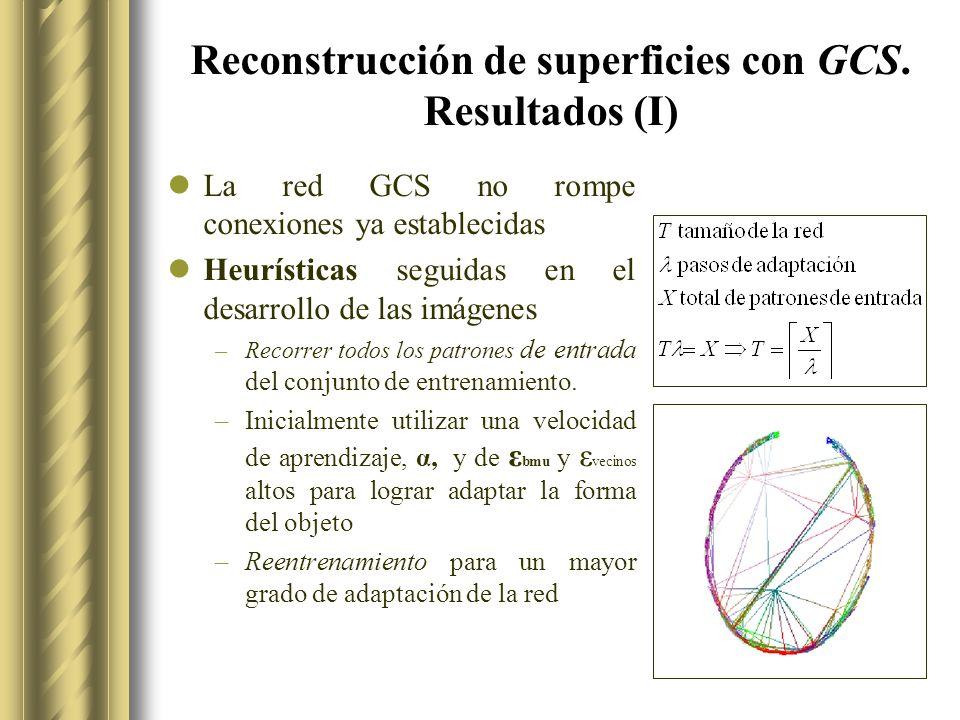 Reconstrucción de superficies con GCS.