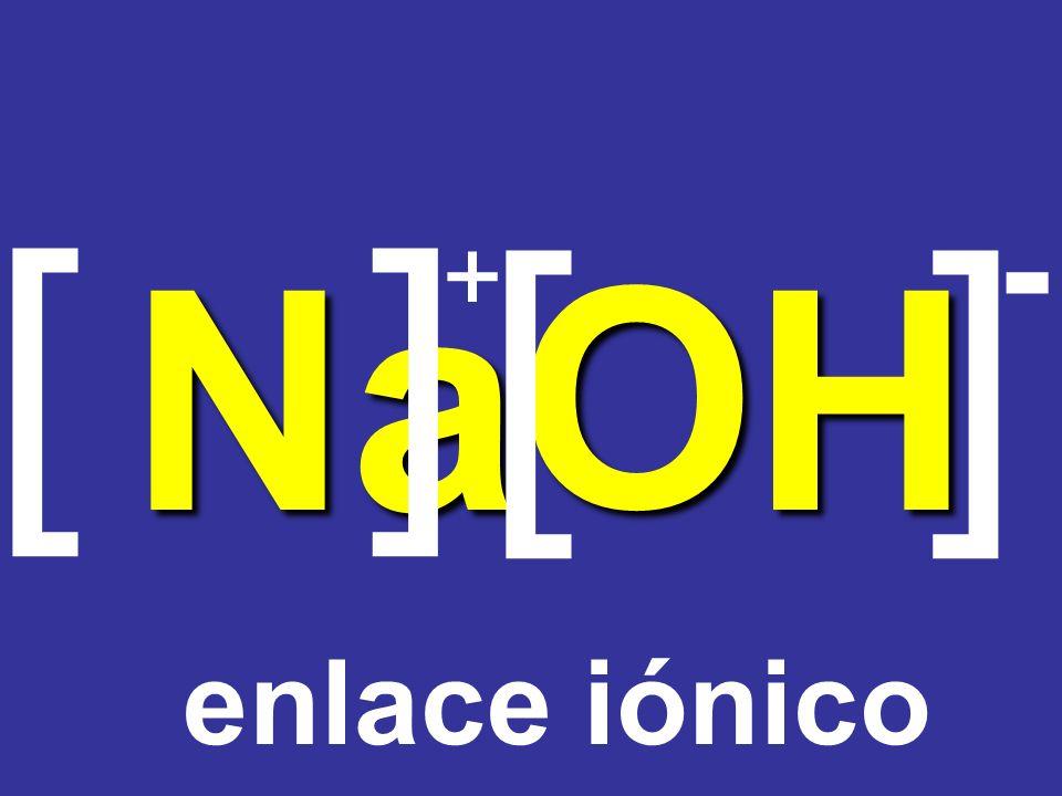 Na O H [] [] + - enlace iónico