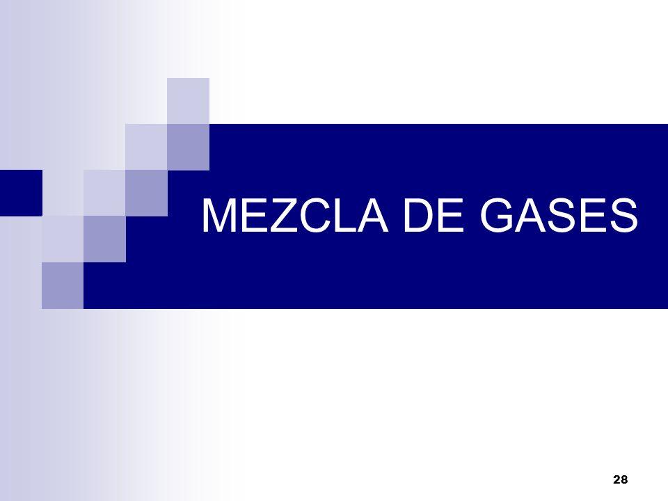 28 MEZCLA DE GASES