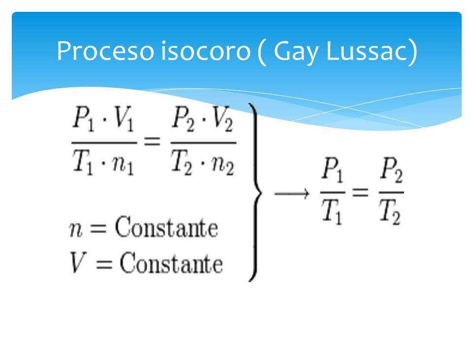 Proceso isocoro ( Gay Lussac)