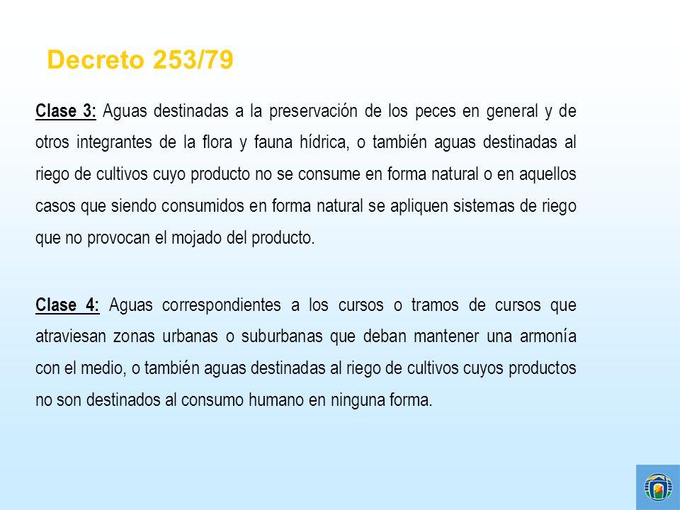 Clase 3: Aguas destinadas a la preservación de los peces en general y de otros integrantes de la flora y fauna hídrica, o también aguas destinadas al
