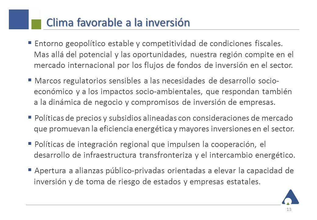 Clima favorable a la inversión Entorno geopolítico estable y competitividad de condiciones fiscales. Mas allá del potencial y las oportunidades, nuest