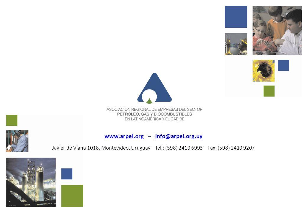www.arpel.orgwww.arpel.org – info@arpel.org.uyinfo@arpel.org.uy Javier de Viana 1018, Montevideo, Uruguay – Tel.: (598) 2410 6993 – Fax: (598) 2410 92