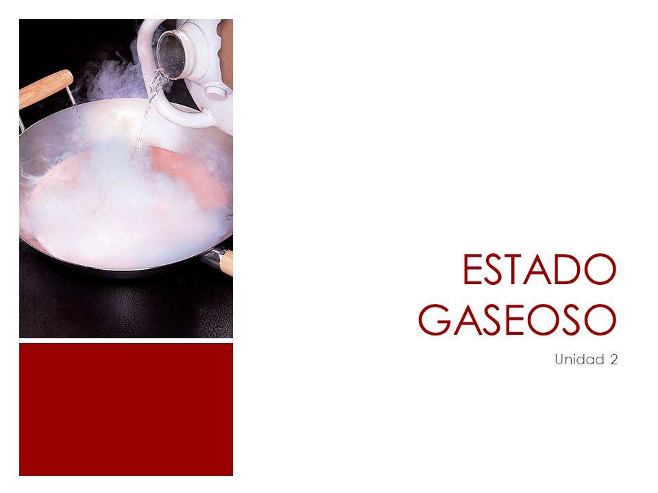 ESTADO GASEOSO Unidad 2