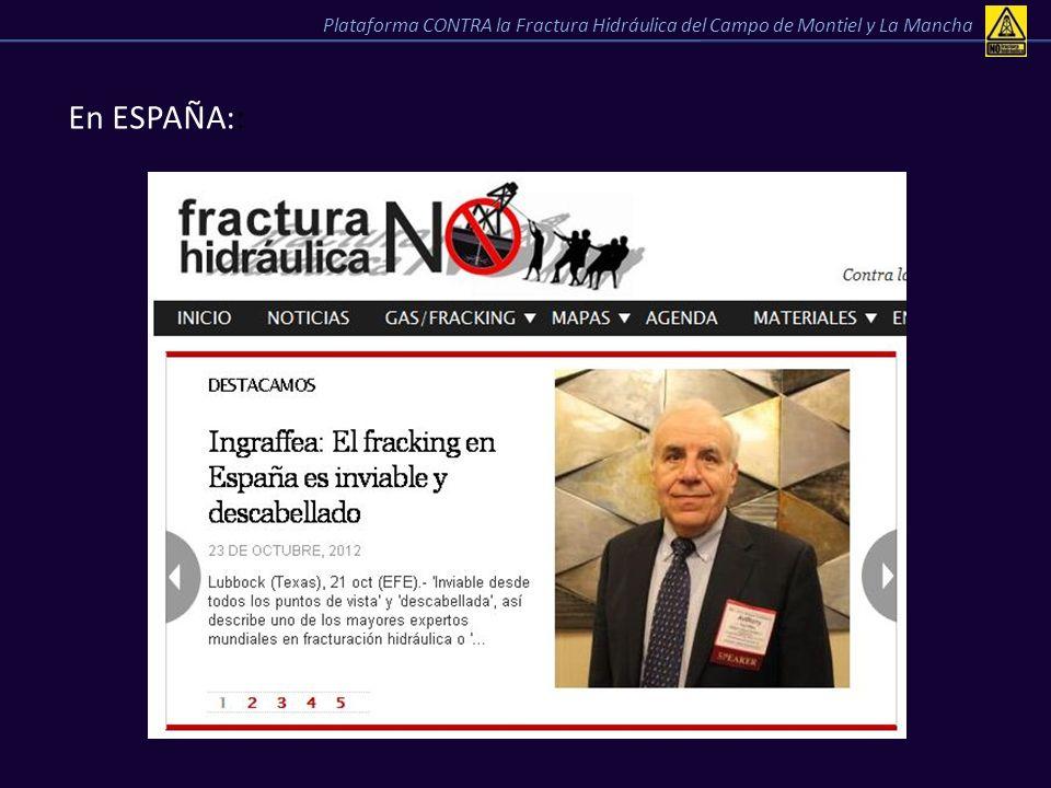 En ESPAÑA:: Plataforma CONTRA la Fractura Hidráulica del Campo de Montiel y La Mancha