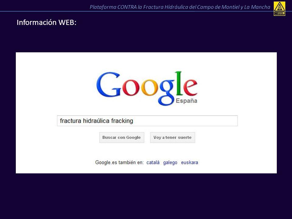 Información WEB:: Plataforma CONTRA la Fractura Hidráulica del Campo de Montiel y La Mancha