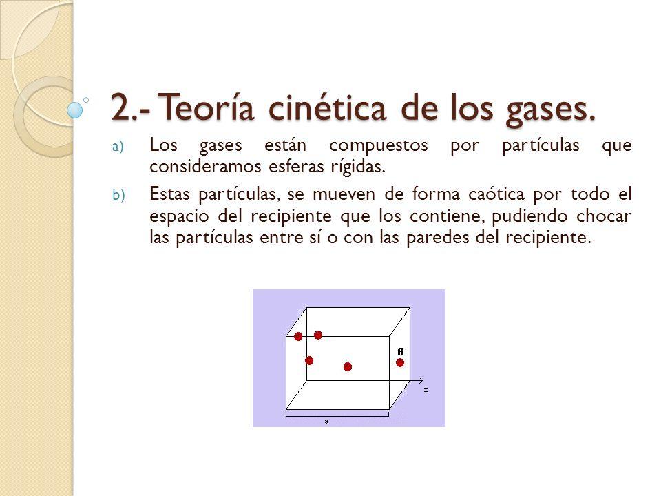 3.- El estado gaseoso.Un gas se caracteriza por tres variables.