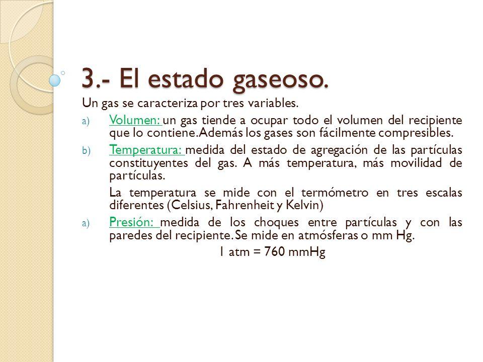 4.- El comportamiento de los gases.4.1.