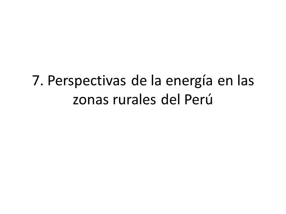 7. Perspectivas de la energía en las zonas rurales del Perú