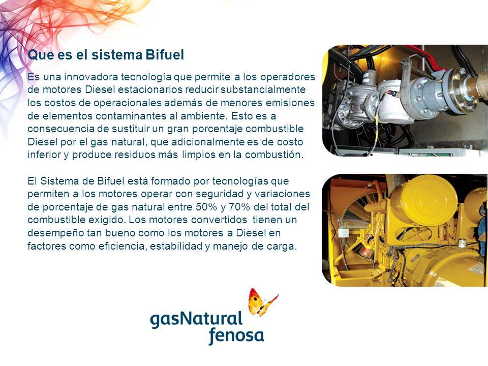 Es una innovadora tecnología que permite a los operadores de motores Diesel estacionarios reducir substancialmente los costos de operacionales además de menores emisiones de elementos contaminantes al ambiente.