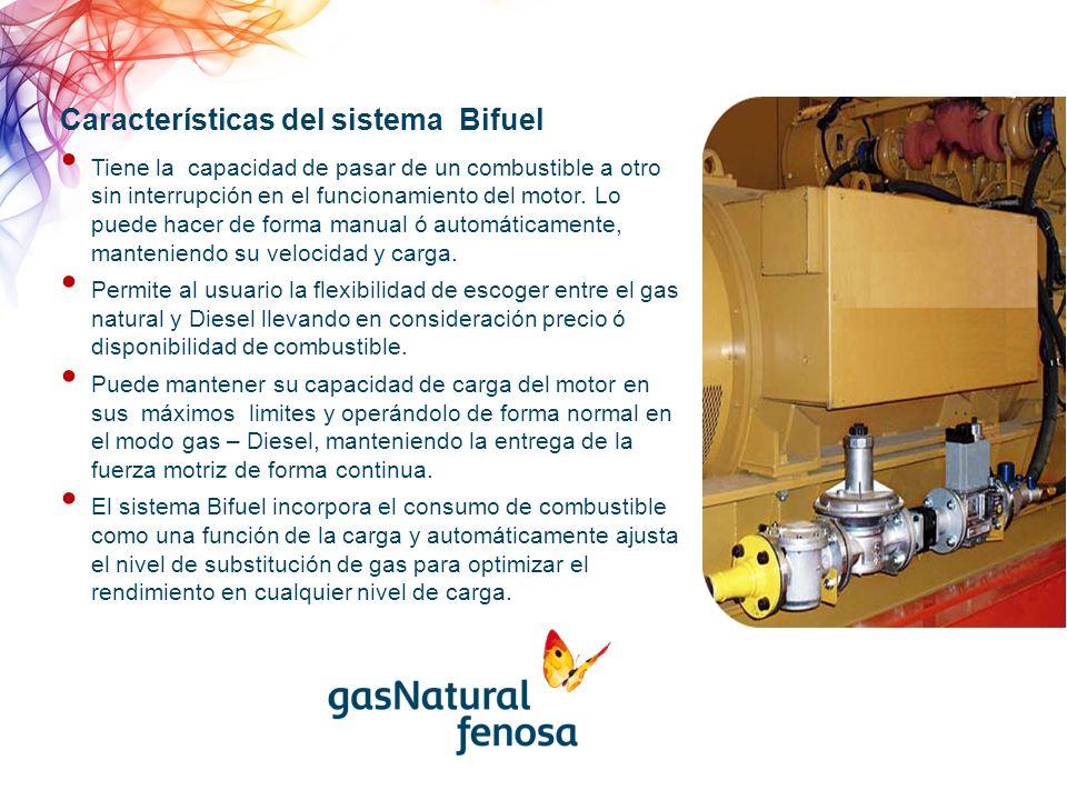 Tiene la capacidad de pasar de un combustible a otro sin interrupción en el funcionamiento del motor.