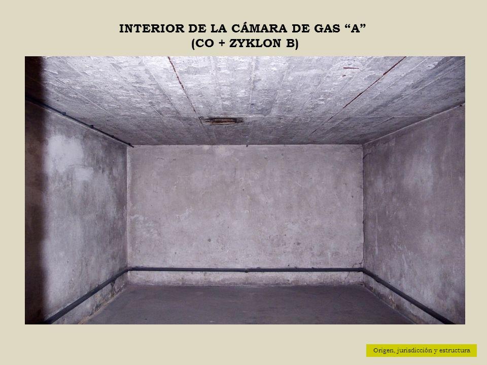 INTERIOR DE LA CÁMARA DE GAS A (CO + ZYKLON B)