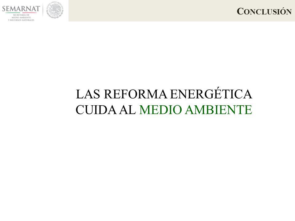 C ONCLUSIÓN LAS REFORMA ENERGÉTICA CUIDA AL MEDIO AMBIENTE