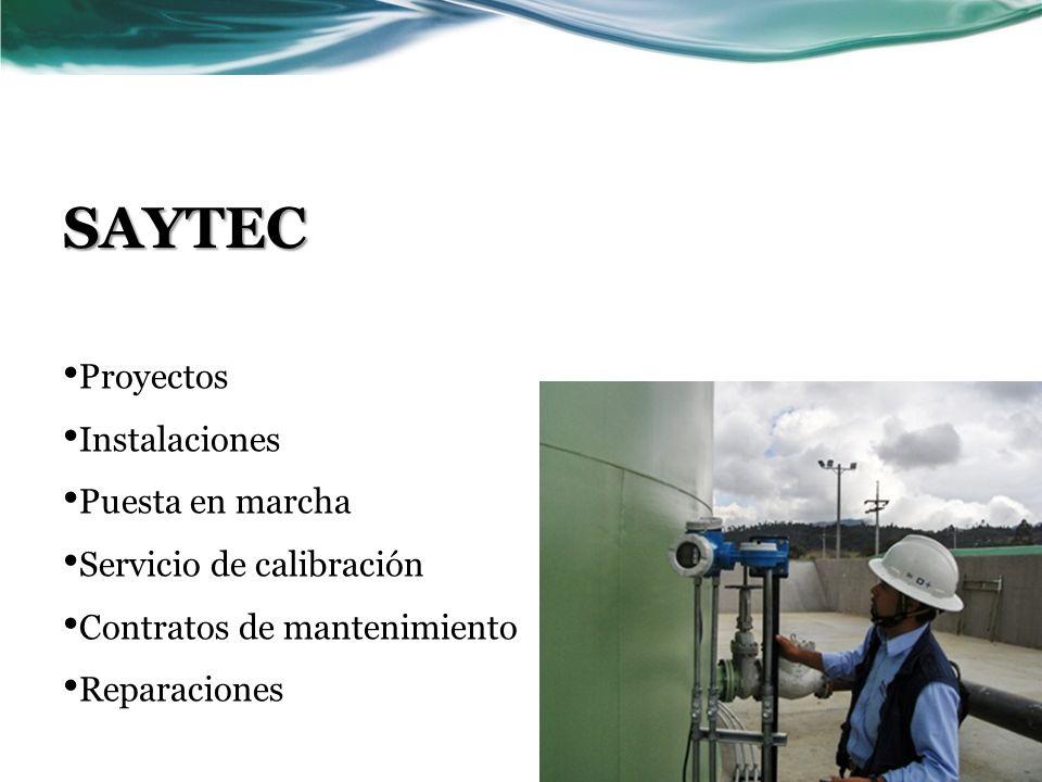 SAYTEC Proyectos Instalaciones Puesta en marcha Servicio de calibración Contratos de mantenimiento Reparaciones
