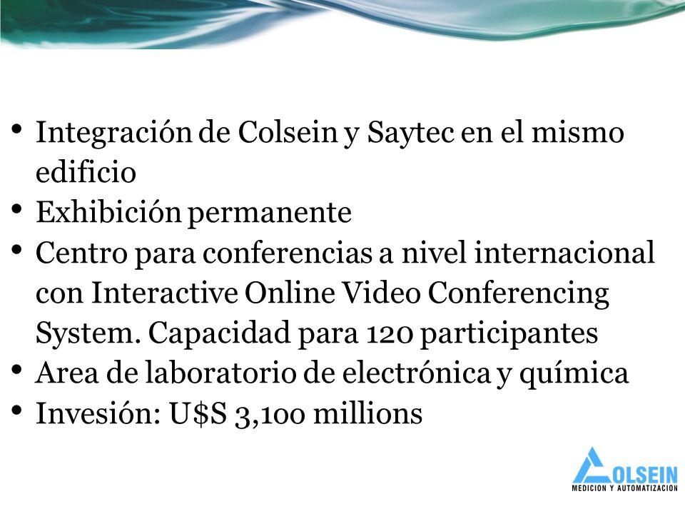 Integración de Colsein y Saytec en el mismo edificio Exhibición permanente Centro para conferencias a nivel internacional con Interactive Online Video Conferencing System.