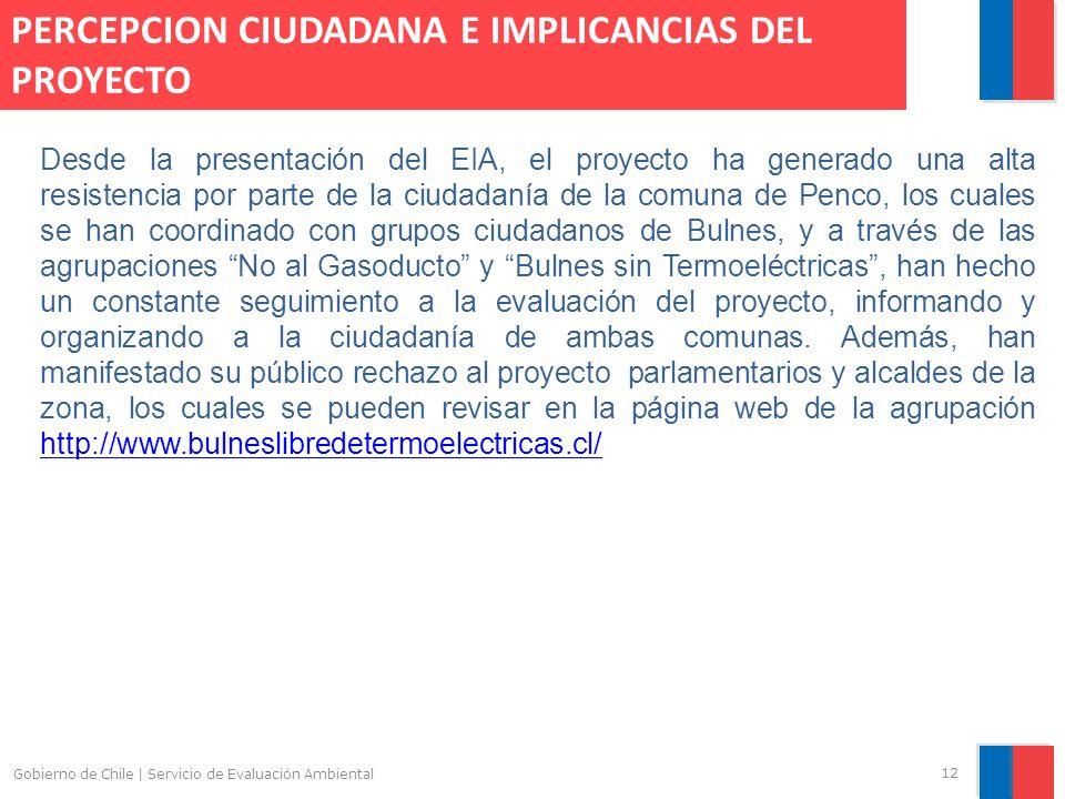 Gobierno de Chile | Servicio de Evaluación Ambiental 12 Desde la presentación del EIA, el proyecto ha generado una alta resistencia por parte de la ci