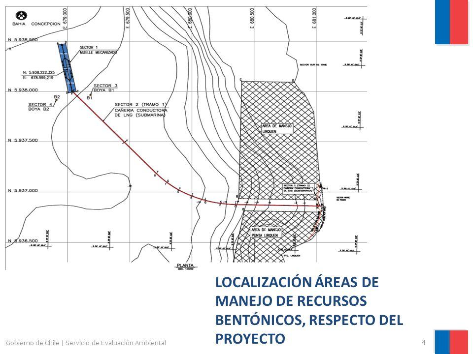 Gobierno de Chile | Servicio de Evaluación Ambiental 4 LOCALIZACIÓN ÁREAS DE MANEJO DE RECURSOS BENTÓNICOS, RESPECTO DEL PROYECTO