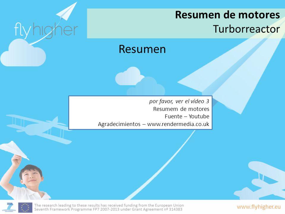 www.flyhigher.eu Resumen Resumen de motores Turborreactor por favor, ver el vídeo 3 Resumem de motores Fuente – Youtube Agradecimientos – www.renderme