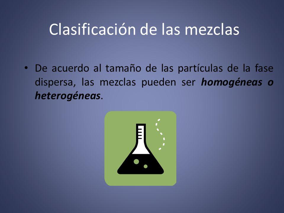 Mezclas homogéneas Las mezclas homogéneas son aquellas cuyos componentes no son identificables a simple vista, es decir, se aprecia una sola fase física (monofásicas).