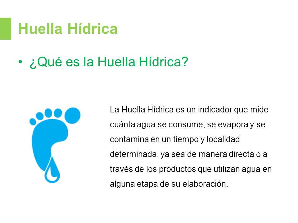 Huella Hídrica ¿Qué es la Huella Hídrica.
