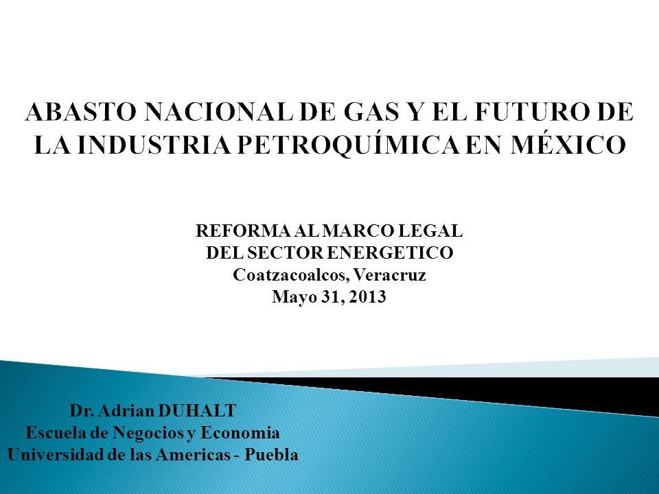 México ocupa el cuarto lugar mundial – 681 tcf Reservas convencionales estimadas en 12 tcf Propiedad del Estado sobre hidrocarburos (PEMEX)