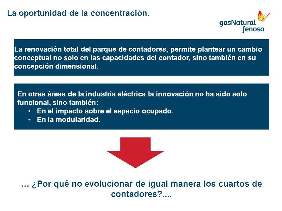 La oportunidad de la concentración. La renovación total del parque de contadores, permite plantear un cambio conceptual no solo en las capacidades del