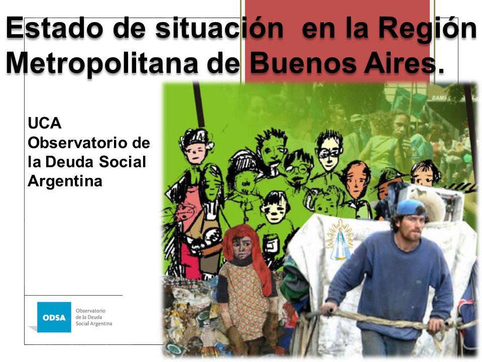 Estado de situación en la Región Metropolitana de Buenos Aires.