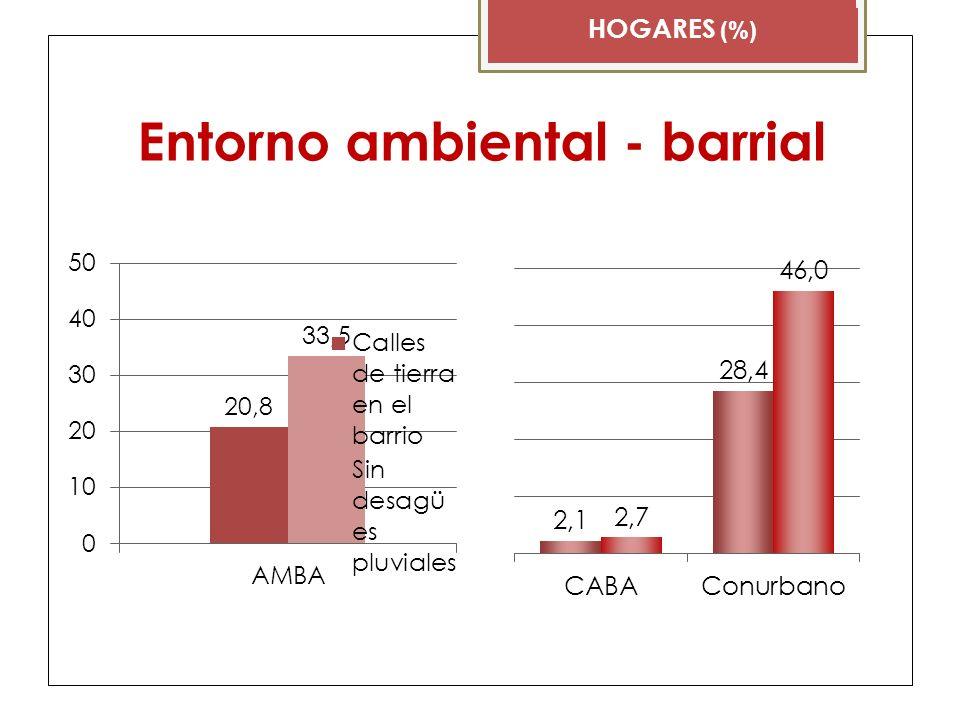 Entorno ambiental - barrial HOGARES (%)