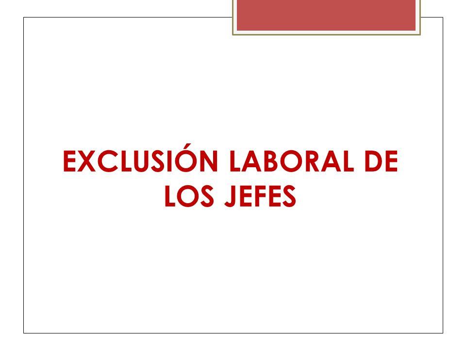 EXCLUSIÓN LABORAL DE LOS JEFES